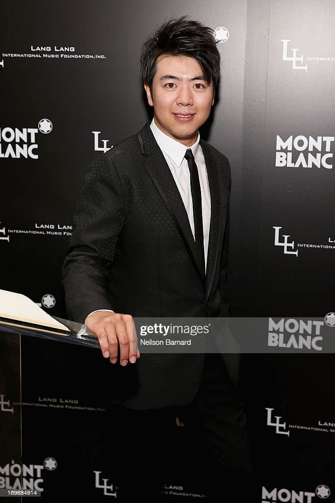 Pianist <a gi-track='captionPersonalityLinkClicked' href=/galleries/search?phrase=Lang+Lang&family=editorial&specificpeople=589153 ng-click='$event.stopPropagation()'>Lang Lang</a> attends The <a gi-track='captionPersonalityLinkClicked' href=/galleries/search?phrase=Lang+Lang&family=editorial&specificpeople=589153 ng-click='$event.stopPropagation()'>Lang Lang</a> International Music Foundation Inaugural Gala supported by Montblanc at 10 on The Park on June 3, 2013 in New York City.