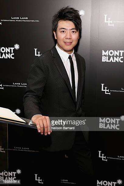 Pianist Lang Lang attends The Lang Lang International Music Foundation Inaugural Gala supported by Montblanc at 10 on The Park on June 3 2013 in New...