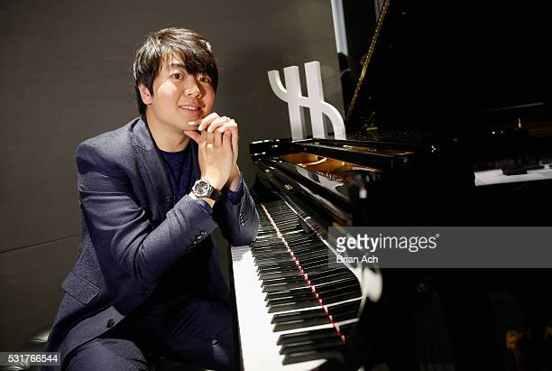 Pianist Lang Lang perfoms for an exclusive charity event at Hublot Fifth Avenue Boutique on May 16 2016 in New York City