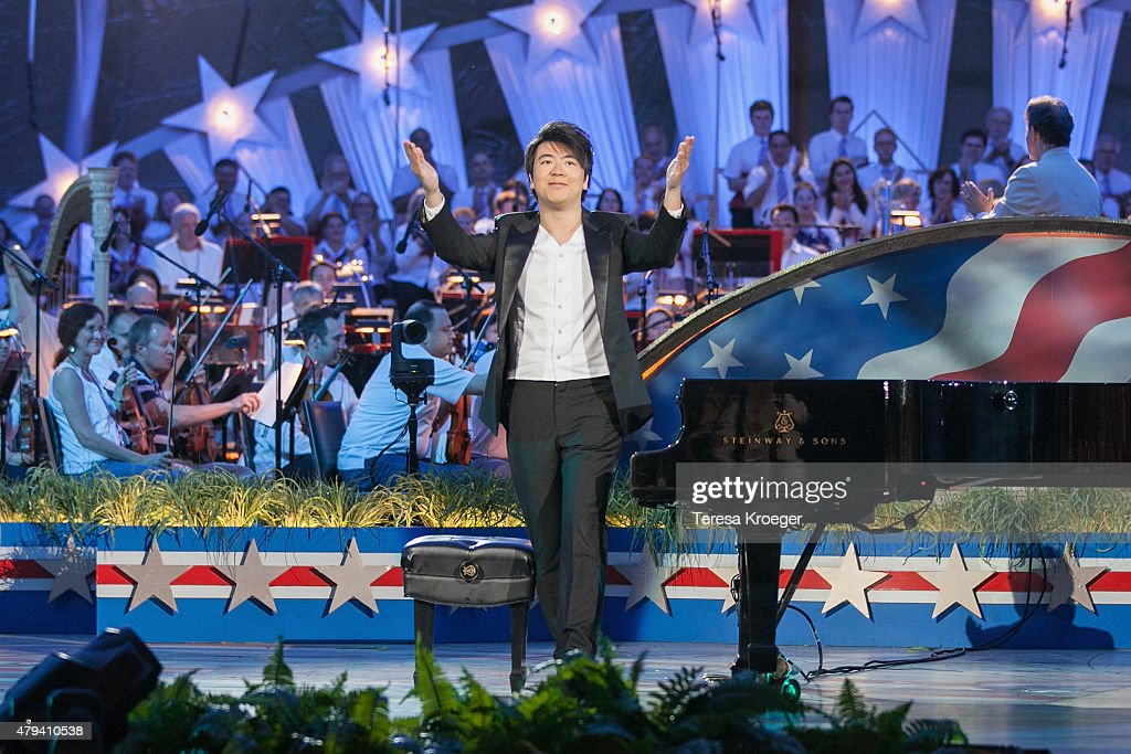 Pianist <a gi-track='captionPersonalityLinkClicked' href=/galleries/search?phrase=Lang+Lang&family=editorial&specificpeople=589153 ng-click='$event.stopPropagation()'>Lang Lang</a> performs at A Capitol Fourth 2015 Independence Day Concert dress rehearsals on July 3, 2015 in Washington, DC.