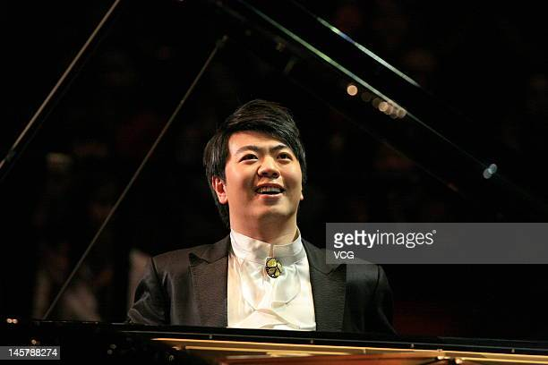 Pianist Lang Lang performs on the stage during East Meets West Concert at Royal Albert Hall on June 5 2012 in London United Kingdom