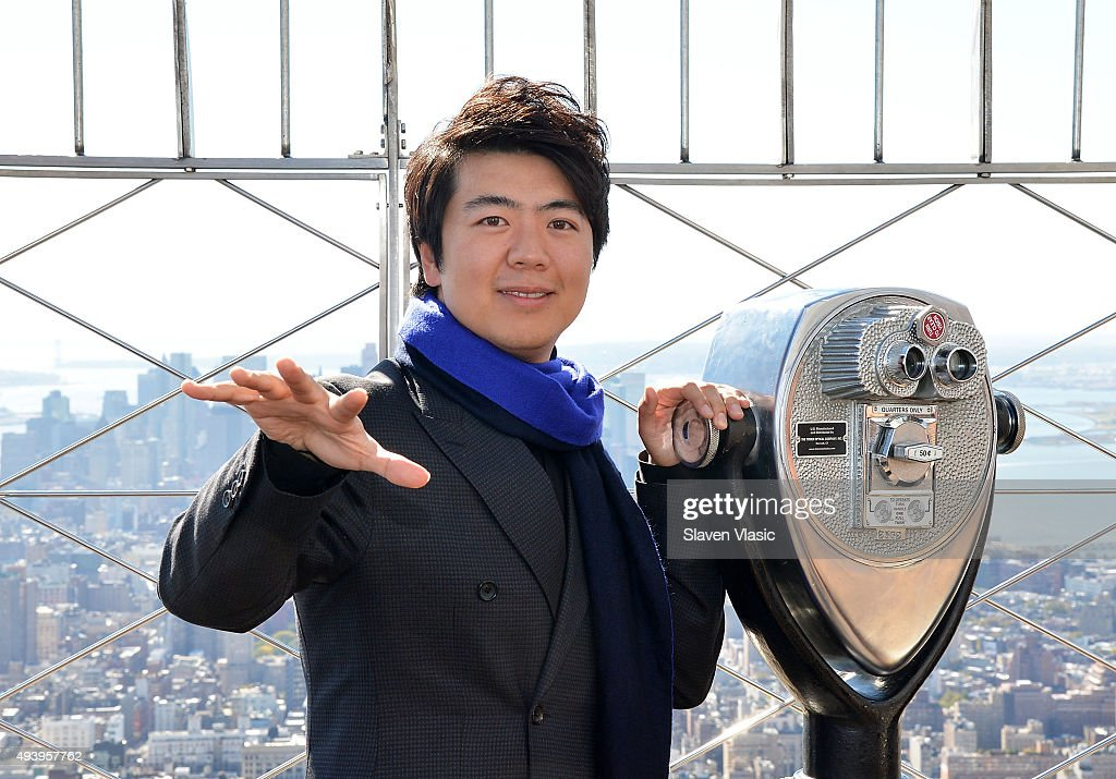 Pianist <a gi-track='captionPersonalityLinkClicked' href=/galleries/search?phrase=Lang+Lang&family=editorial&specificpeople=589153 ng-click='$event.stopPropagation()'>Lang Lang</a> visits The Empire State Building on October 23, 2015 in New York City.