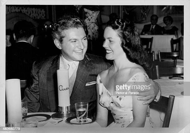 Pianist Liberace and Delores Bisch enjoying an evening together at H D Hoover's Circo's Hollywood California January 1955