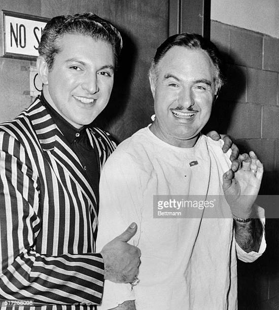 Pianist Liberace is comforting his band leader brother George at the hospital after the latter was beaten and robbed earlier today while en route to...