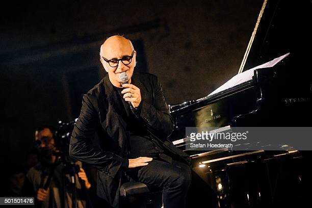 Pianist Ludovico Einaudi performs live on stage during Yellow Lounge organized by recording label Deutsche Grammophon at 'Musikbrauerei' on December...