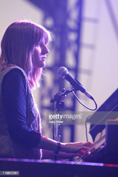Pianist Marketa Irglova of The Swell Season performs in concert at the Austin City Limits music festival on September 26 2008 in Austin Texas