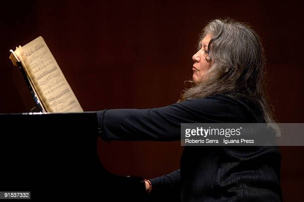 Pianist Martha Argerich in concert for Bologna Festival 2009 at Auditorium Manzoni on October 5 2009 in Bologna Italy