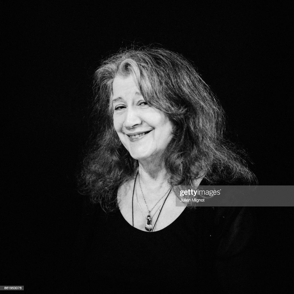 Pianist Martha Argerich is photographed for Self Assignment on April 2016 in Paris, France.