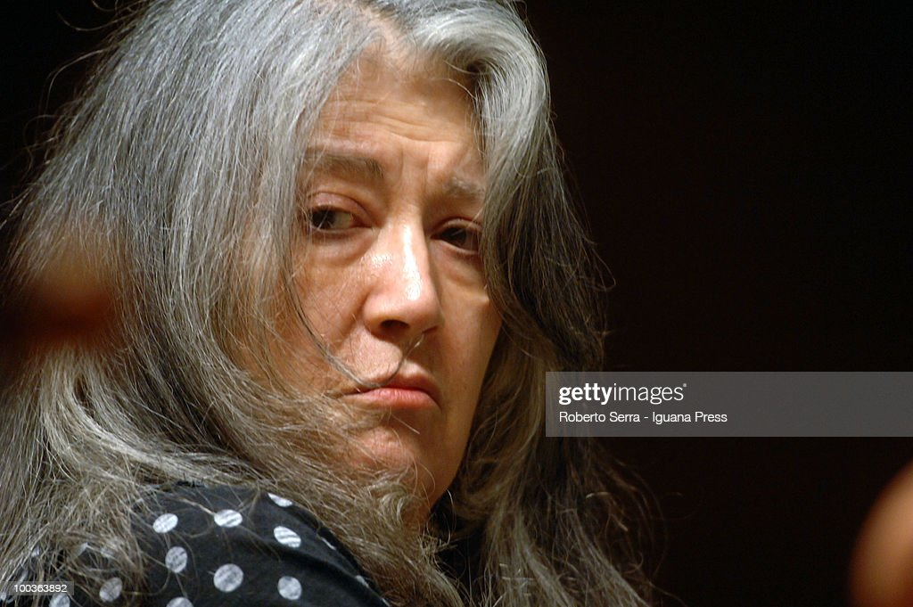 Pianist Martha Argerich perform her's concert with String Quartet for Bologna Festival at Manzoni theatre on May 20, 2010 in Bologna, Italy.