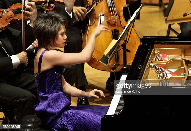 Pianist Yuja Wang playing Rachmaninoff's Third Concerto with Gustavo Dudamel conducting the LA Phil at Walt Disney Concert Hall on Dec 19 A program...