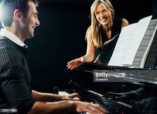 Piano lesson.