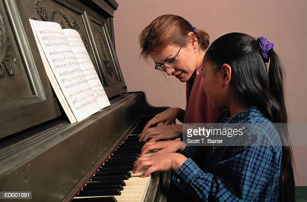 Piano Teacher and Student