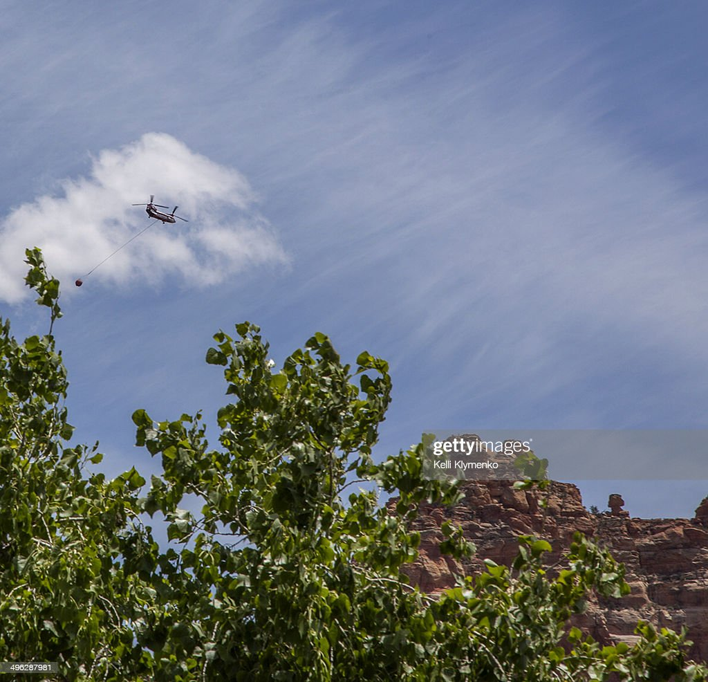 Piasecki H-21 on route to Slide Fire in Sedona, AZ May 22, 2014