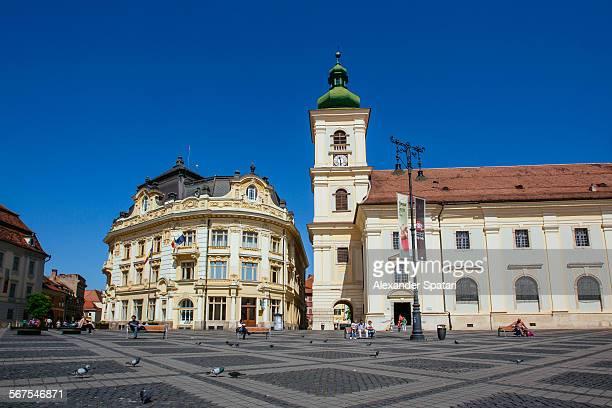 Piata Mare (Big Square) in Sibiu, Romania