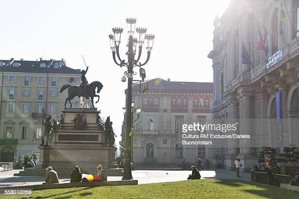 Piazza Carlo Alberto, Turin, Piedmont, Italy