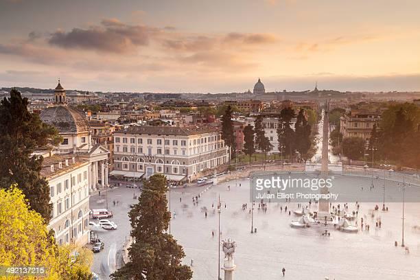 Piazza del Popolo in Rome.