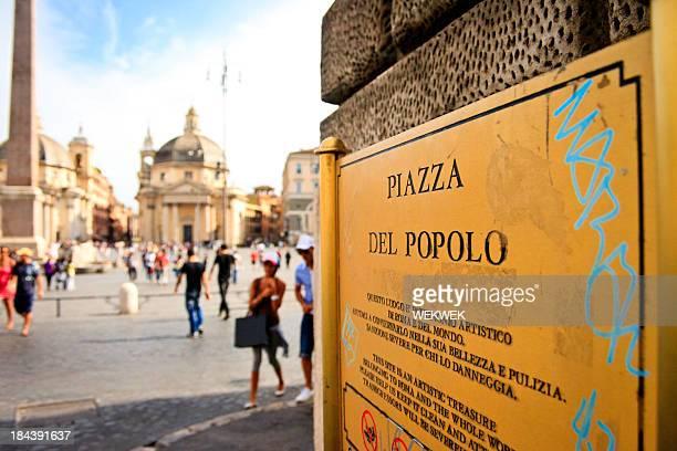 Piazza del Popolo, Roma, Italia