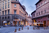 Piazza della Mercanzia in the centre of Bologna