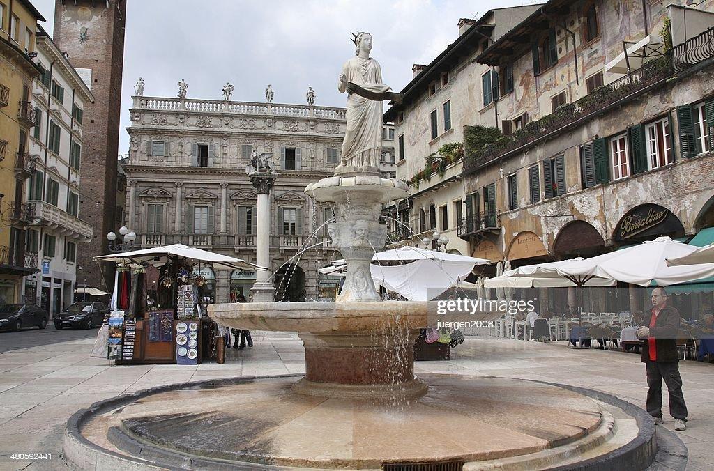 Piazza delle Erbe, Verona, Italy : Stock Photo