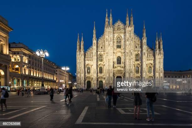 Piazza Duomo in Milan at night