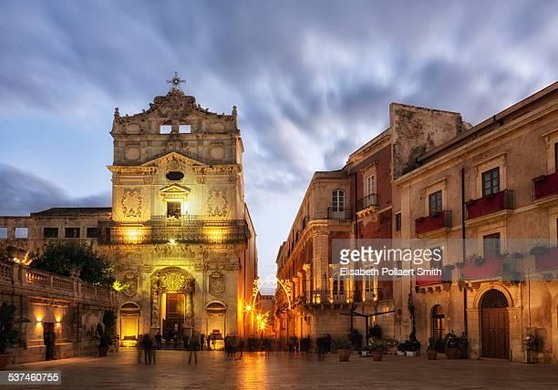 Piazza Duomo, Ortigia, Siracusa, Sicily