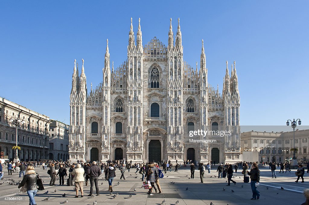Piazza (square) Duomo, view of the Cathedral