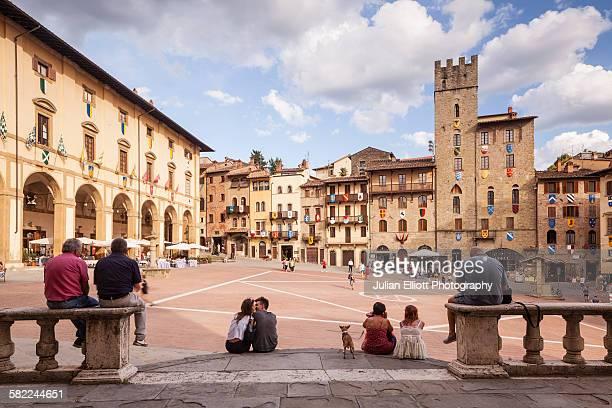 Piazza Grande in Arezzo, Italy.