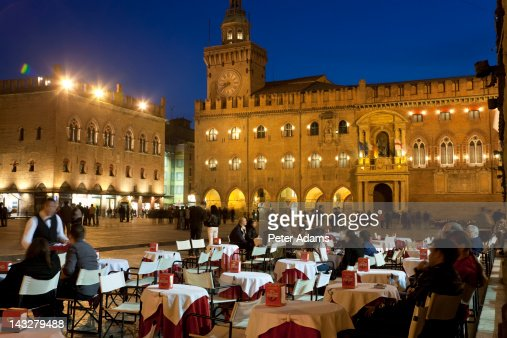 Piazza Maggiore, Bologna, Emilia Romagna, Italy : Stock Photo