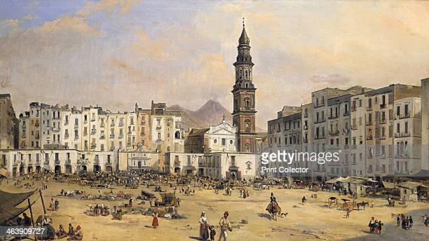 'Piazza Naples' Italy mid 19th century From the Musee de Beaux Arts de Pan