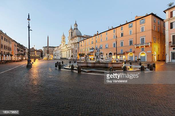 Piazza Navona in Rome at dawn