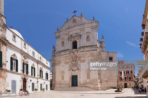 Piazza Plebiscito, Basilica di San Martino, Martina Franca, Valle dItria, Taranto district, Puglia, Italy, Europe
