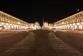 Piazza San Carlo in Turin,Italy