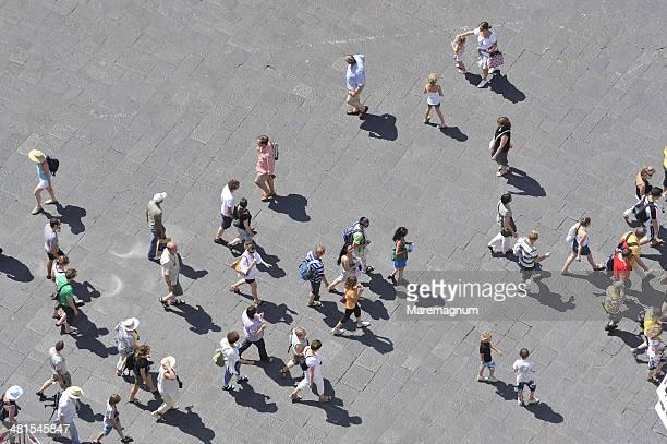 Piazza San Giovanni, people