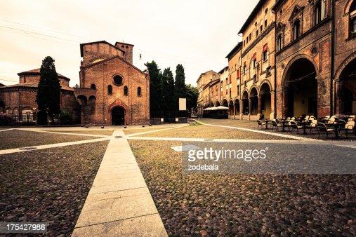 Piazza Santo Stefano in Bologna, Italy