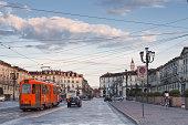 Piazza Vittorio Veneto in the early morning.