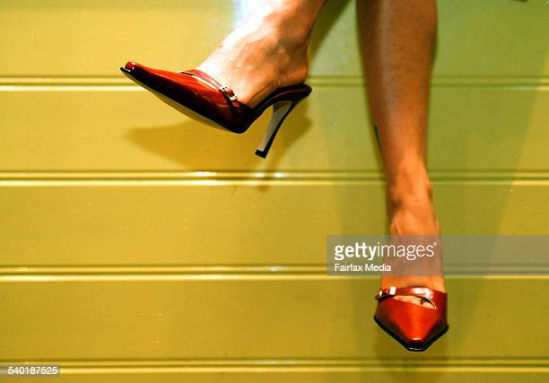 Pic by Tanya Lake generic women in business red stilletto stillettos shoes high heel