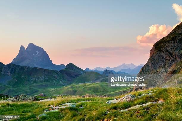 Pic du Midi d'Ossau au coucher du soleil