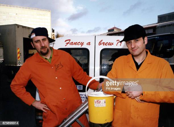 Marc 'Lard' Riley and Mark Radcliffe pictured with their van DJ Mark Radcliffe and his bizarre sidekick the boy Lard today took on one of the...