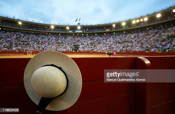 Picador's hat during a bullfight at the Plaza Valencia bullring on July 22 2011 in Valencia Spain