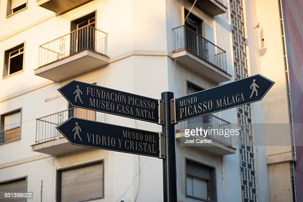 Picasso museum and other museums in Malaga, Spain