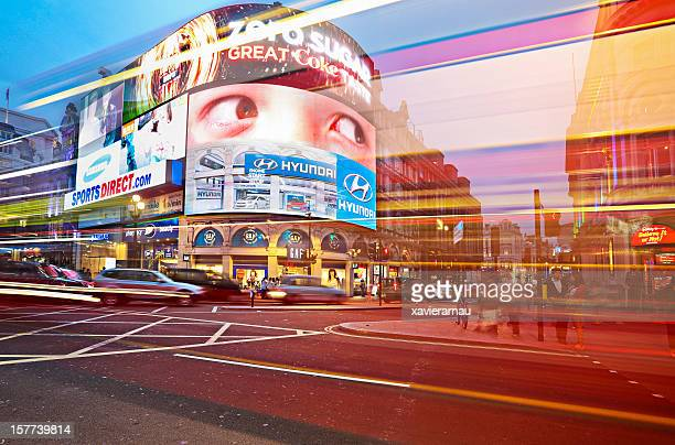 Piccadilly Circus at dusk