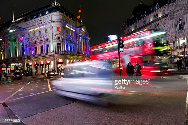 Piccadilly Circus at Night, England