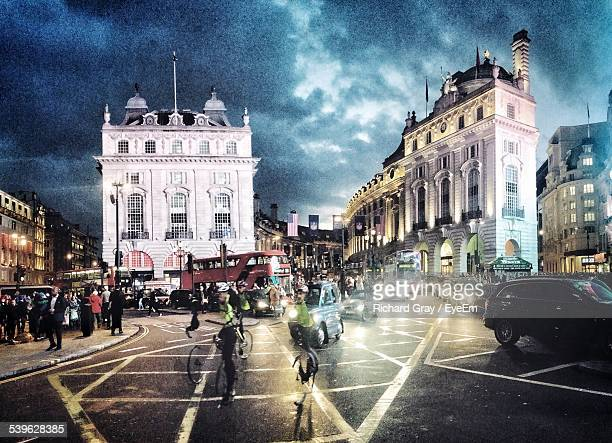 Piccadilly Circus At Night In City