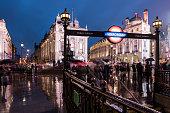 Piccadilly Circus at night, London, England, UK