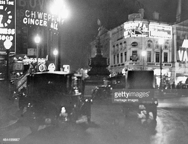 Piccadilly Circus at night Westminster London circa 1925