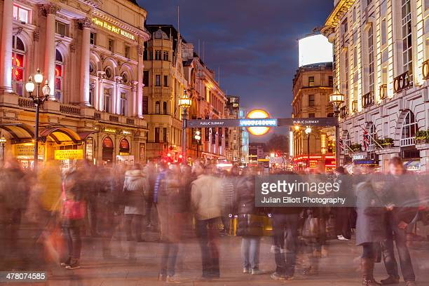 Piccadilly Circus in the city of London.