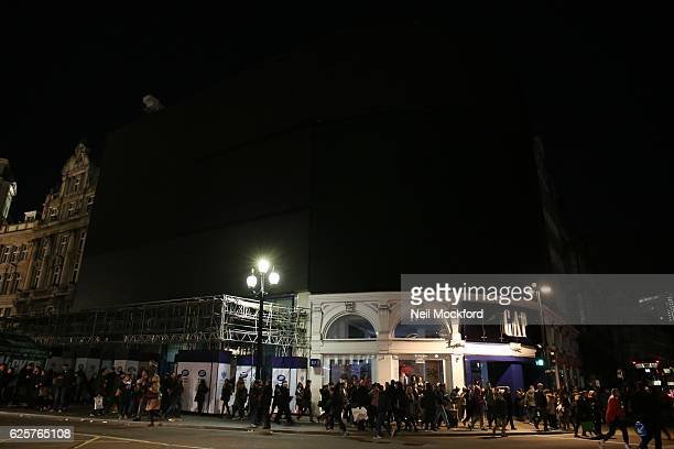 Piccadilly Lights at Piccadilly Circus as London's West End suffers mass power cut as stores offer discounted items in their 'Black Friday' sales on...