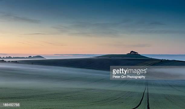Pick Hill and Woodborough Hill at dawn