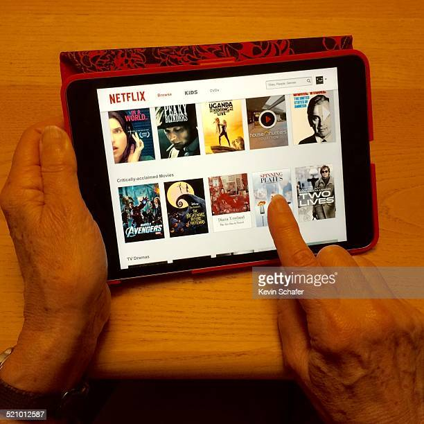 Picking a movie on Netflix on the iPad mini