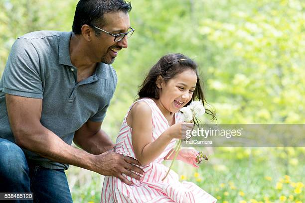 Picking Flowers on Father's Day